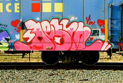 Destn (All Seeing) Tags: art graffiti trains huge destn slayer toon sfgraffiti regal graffitiart freights paintedtrains railart ehor freightgraffiti boxcarart bayareagraffiti destnbmb hobotags hugekyt regalsws