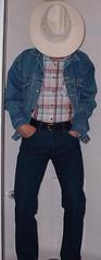 cowboy01 (splishsplash1123) Tags: cowboy jean denim jeanjacket wam westernwear wetdenim