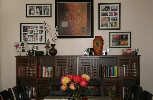 Closeups of Dining room bookcase