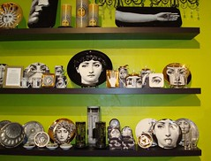 Fornasetti girls for losy (Trudi L) Tags: green austin texas shops storedisplay fornasetti