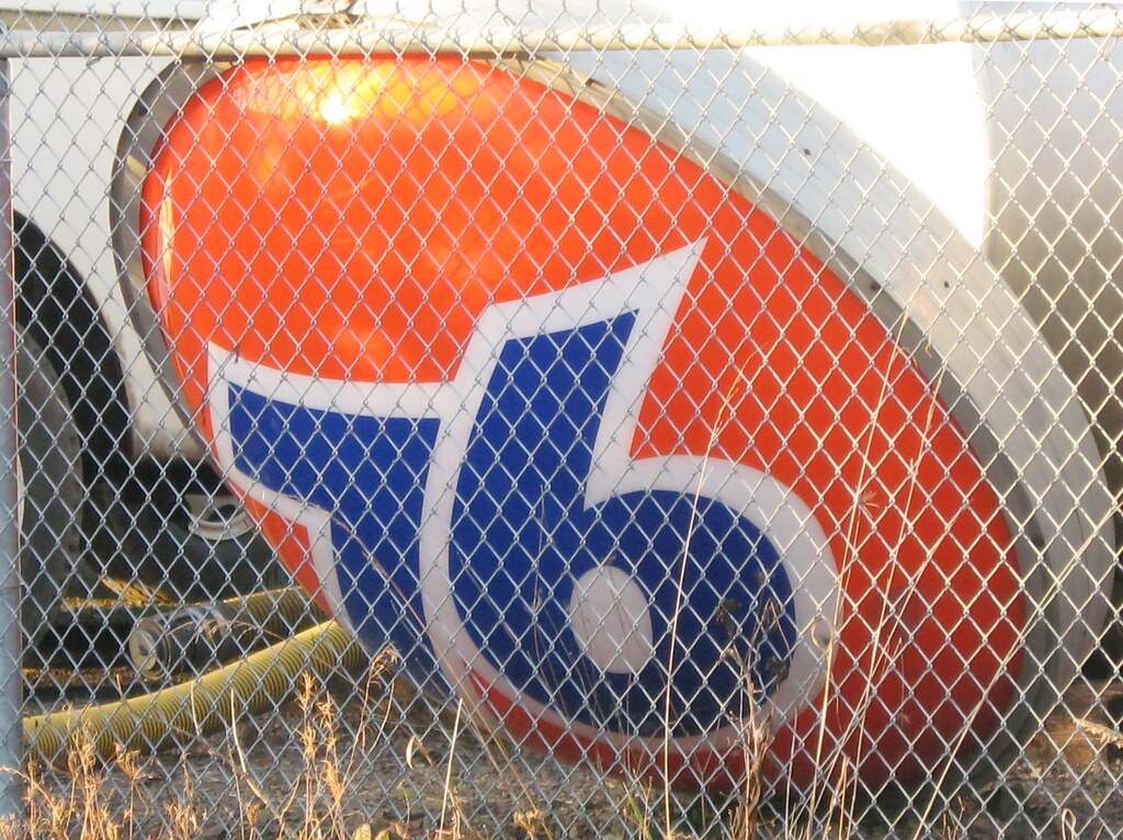 Abandoned Union 76 Sign, Corvallis, Oregon, USA and Also a True Story about a Similar Sign