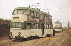 You're off the rails! (Lady Wulfrun) Tags: car balloon sept blackpool 710 derailed 2007 tramways bispham