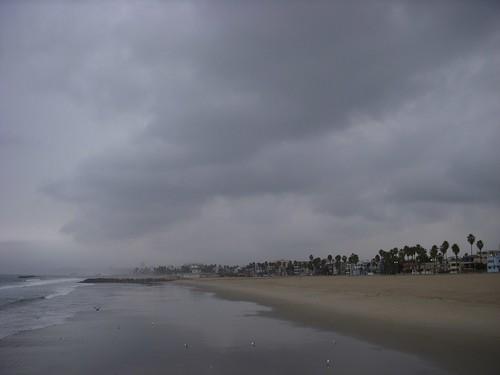 Rain in Venice Beach