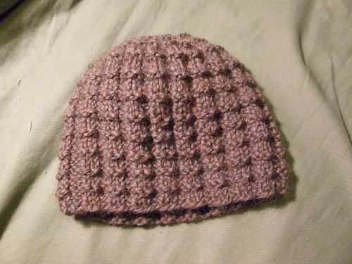 Waffle Stitch Knit Hat Pattern : Third Base Line: Back in the Yarn Stash Again