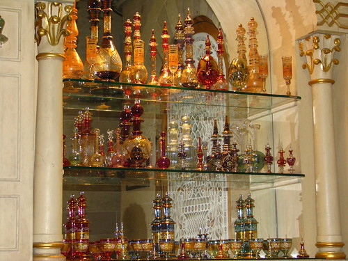 A visit to a Cairo perfumery (right) unearthed delicate hand-blown Egyptian perfume bottles of all sizes, which are only a part of the innumerable local crafts.