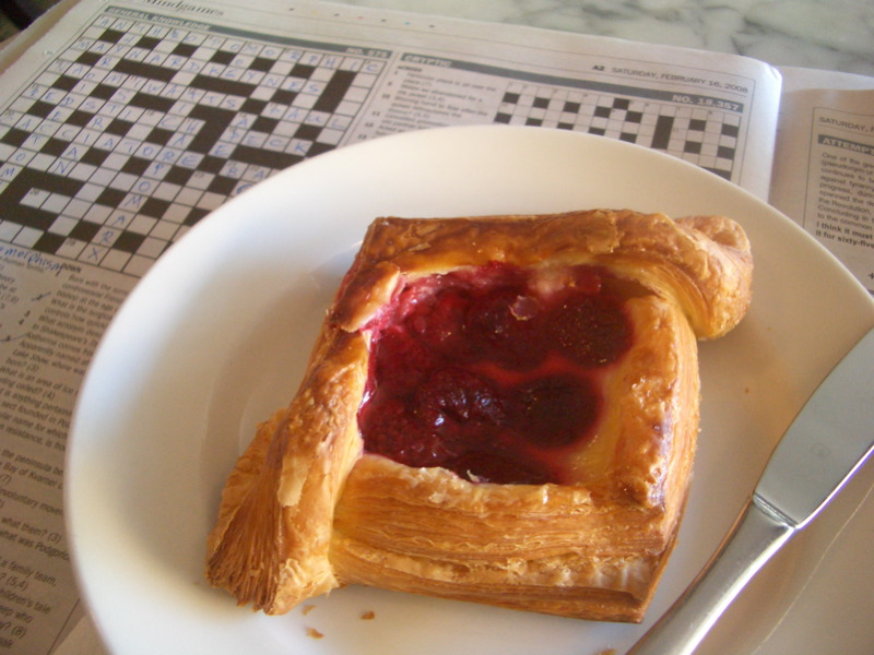Raspberry danish at Gertrude St Enoteca