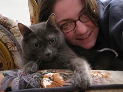 My cat (Nietzsche) & I (Leya :P) Tags: portrait cats cat