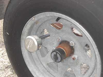The Dania Boot Trailer Wheel Lock Secured