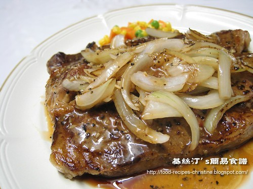 蒜蓉黑椒煎西冷牛扒 【自家秘方】Garlic Black Pepper Sirloin Steak