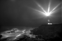 b&w lighthouse