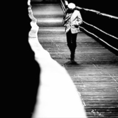 Mysterious Girl (One World One Earth One Sky) Tags: bridge blackandwhite bw girl beautiful mystery science experience mysterious masterpiece alberteinstein trueart beautifulthing mysteriousgirl thevisionsofkai