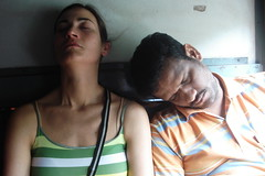 So tiered (Roberta Tura) Tags: friends sleeping india holiday train