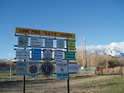 Lone Pine 'Says' Howdy
