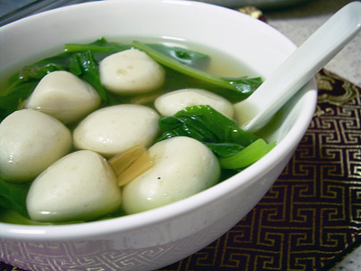 fishball veg soup