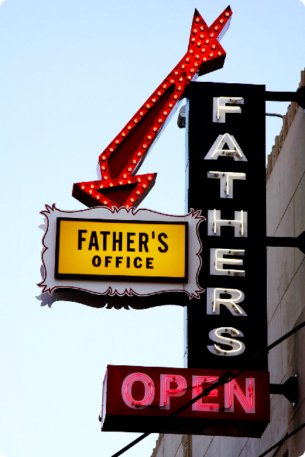 Father's Office Now Open