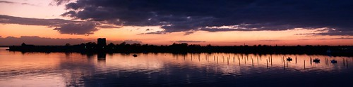 Port Solent Sunset Panorama