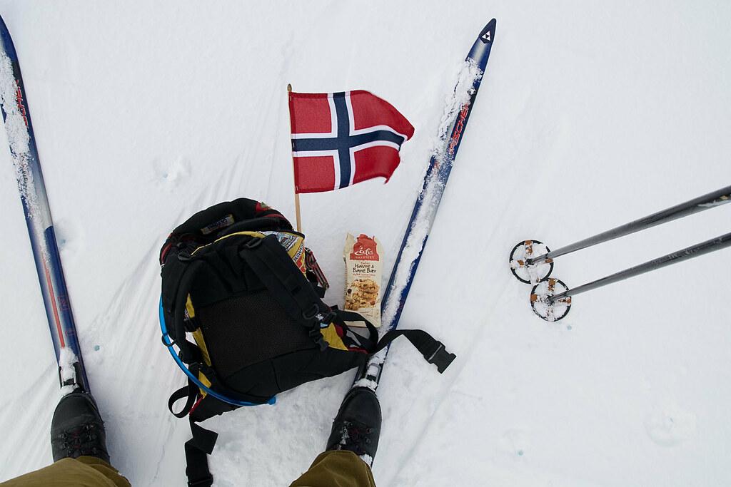 Kort rast på Hardangerjøkulen