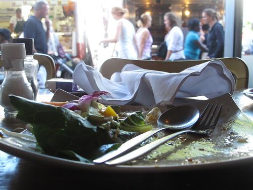 Almost empty plates