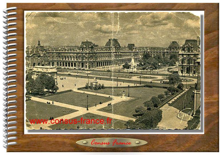 341. - Perspective sur la place du Caroussel et le Palais du Louvre