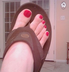 Red Polish (ToePolishIP) Tags: red man men handy toes bright painted
