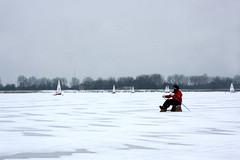 Winter in the Netherlands (sensaos) Tags: schnee winter snow cold holland netherlands dutch sport zeilen europa europe sneeuw nederland tradition nederlands noordholland ijs noord the monnickendam traditie gouwzee ijszeilen