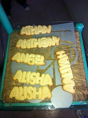 Baked name cookies (ShyButCurious) Tags: party cookies yummy dough name letters alphabet favours