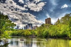The Lake at Central Park (BartWilliams) Tags: newyorkcity lake newyork skyline centralpark hdr photomatix bartwilliams canont2i