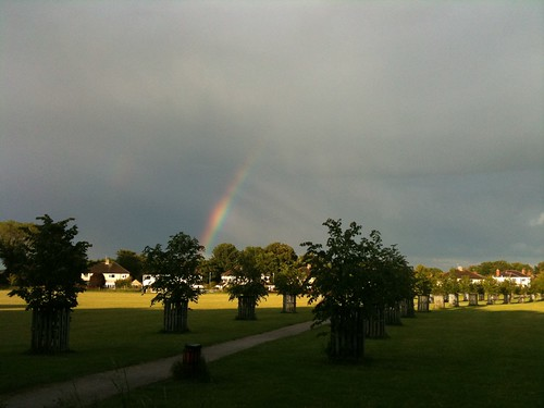 Rainbow over the Millennium Field in Wetherby