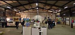 AUSSTELLUNG IM OBERHAFENQUARTIER (R. Scheer) Tags: art stencil artist kunst hamburg schuppen erffnung hafen vernissage speicherstadt bilder ausstellung europalette scheer knstler norddeutschland lagerhalle kunstwerke renescheer oberhafenquartieroberhafen