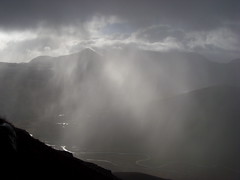 snow shower across Liathach (nineonesix) Tags: mountains spectacular fun scotland highlands northwest adventure success leading challenge clients nineonesix
