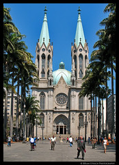 Sao Paulo Cathedral (shutterBRI) Tags: city people church brasil palms worship downtown saopaulo cathedral religion towers streetphotography photofaceoffwinner pfogold
