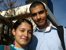 Gabriela Barrera, 17, and Andres Castano, 24, think Vancouver is safer than their home towns in Colombia.