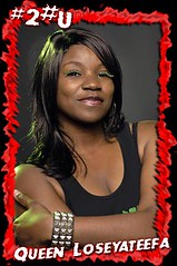 Queen Loseyateefa of the Atlanta Rollergirls flat-track roller derby league
