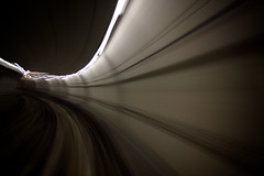 2,5 seconds  in the metro (3pom) Tags: b light metro tunnel line val automatic toulouse tunel mouvement ligne leger vehicule automatique ligneb lineb
