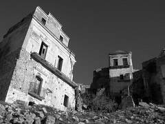 macerie in b/w (MaRcUzZ) Tags: city bw italy tower castle church landscape photo italia torre desert monumento basilicata chiesa campanile oldhouse cupola matera fantasma oldcity paesaggio biancoenero paese southitaly