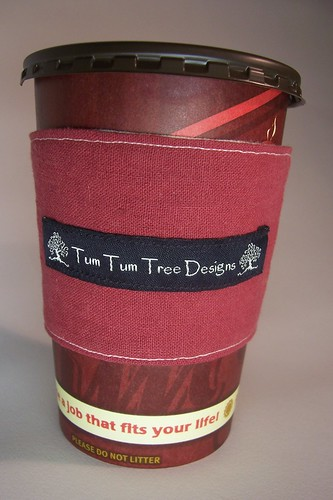 Coffee Cozy in Red Hemp