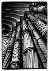Natural History Museum, London (matthew sugars) Tags: blackandwhite london texture monochrome lines architecture 35mm blackwhite nikon curves perspective naturalhistorymuseum peopleschoice wonderfulshot leadinlines platinumphoto theperfectphotographer bwartaward flickrtate bwxibit