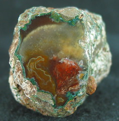 red & yellow in green (dardilrocks) Tags: november chihuahua agate mexico fortification rare 2007 tapado sagenite