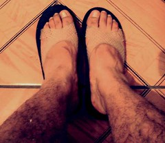 Hairy foot fetish