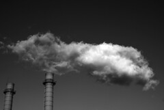 You decide ( l) Tags: blackandwhite bw cloud monochrome factory smokestack industrialization diamondclassphotographer flickrdiamond pollutionyetnot