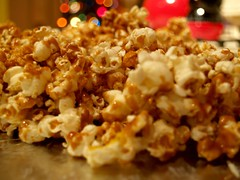 23/365 Caramel Corn ([ Melissa   Pauquette ]) Tags: christmas lights tea disney kettle caramel popcorn timer e500 cornproject365olympus