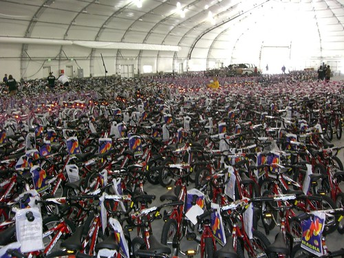 More than 2,000 bikes were assembled and distributed to childrens charities just before the December holidays. TurningWheels is a local nonprofit organization that is run 100 percent by volunteers.