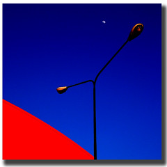MOON (pseudonimo51 / roberto russo) Tags: blue red sky moon color composition landscape napoli lamps capodichino aereoporto 35faves favemegroup4 diamondclassphotographer lifeinblue colourartaward espressionidellanima