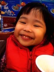 Eskimo smile