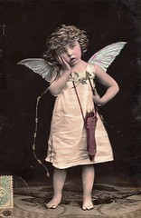 Vintage Postcard ~ Cupid (chicks57) Tags: angel child postcard valentine fairy cherub littlegirl cupid tinted embossed
