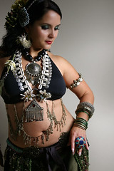 Tribal bellydancer (moraima_D) Tags: costume canon300d flash bellydancer jewelry tribal bellydance tribalfusion tribalbellydance