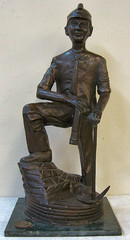 This bronze coal miner brought about $3,000 if I remember right.