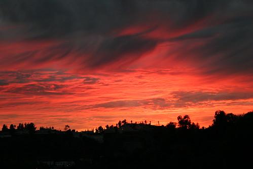 Fiery LA Sunset