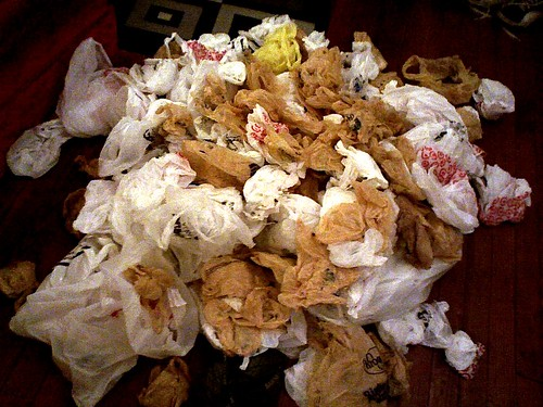 Mountain of Plastic Bags