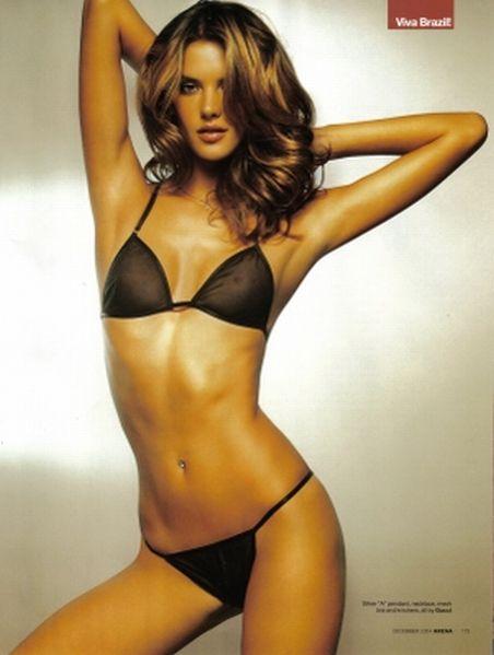 Lingerie, underwear, Alessandra Ambrosio, black, string, bra, panties,